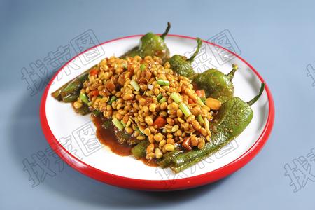 虎皮椒酱黄豆 - 找菜图