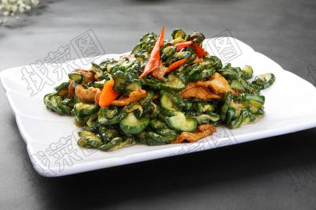 黄瓜钱炒肉 - 找菜图