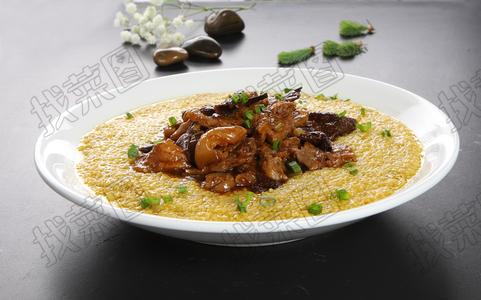 黄米饭扣肘 - 找菜图