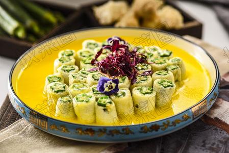 翅汤竹荪酿秋葵 - 找菜图