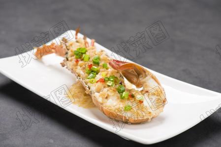 金蒜银丝蒸赤龙 - 找菜图