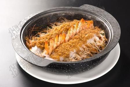 石锅蒜香虾 - 找菜图
