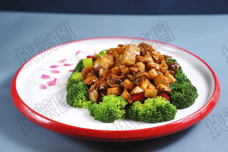 碧绿鲍菇夏贝肉 - 找菜图