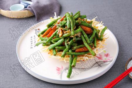 虾酱蚬肉四季豆 - 找菜图