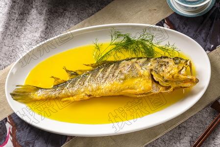 烧焖半野生黄花鱼 - 找菜图