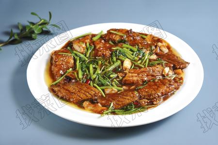 茼蒿焖刀鱼 - 找菜图