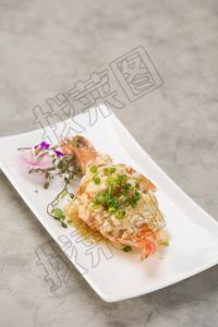 金蒜银丝蒸大对虾 - 找菜图