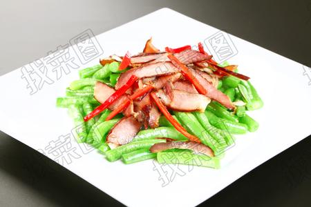 四季豆炒腊肉 - 找菜图