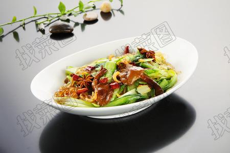 黄蘑小白菜炒粉 - 找菜图